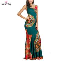 Mulheres africanas dashiki vestidos maxi africano bazin impressão robe longue vestidos tradicionais para senhoras plus size africano clothing