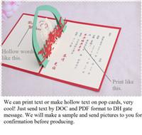 лазерная резка свадебные приглашения венчания 3D свадебные приглашения карты индивидуальные полый текст выскочить партбилеты сувениры, с конвертом