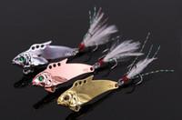 Neu angeln locken VIB Pailletten Metall Kunstfisch Köder 32mm 7,2g Vibration Bass, Zackenbarsch, Snakehead Leurre mit gratis Paar Angelhandschuhen