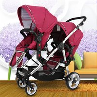 Wholesale- Twins stroller baby stroller bb double front and ...