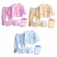 (5 teile / satz) Neugeborenes Baby 0-3 Mt Kleidung Set Marke Jungen Mädchen Kleidung 100% Baumwolle Cartoon Unterwäsche