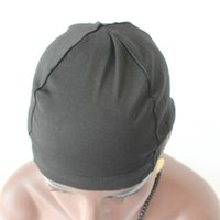 Nouvelle arrivée Dôme casquette 5 PCS / Lot couleur noire perruque faisant la cape supérieure Stretch Weaving Cap dos sangle réglable pour faire des perruques