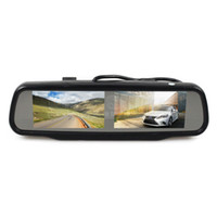 Dual 4. 3 inch Rear View Monitor Car Mirror Monitor for Dvd V...