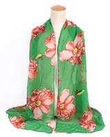 Новый дизайн Цветочный вуаль хлопок шарф светлый цвет большой цветок печати шарф большой размер длинные Scaves для женщин шарфы 6 цветов DHL бесплатно