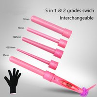 Pink Hair Curler 5 in 1 ON SALE Curling Wand Lovely Set Hair...