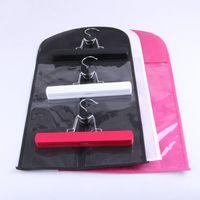 100 pcs Personnalisé Logo Noir Couleur Extension de Cheveux Sac D'emballage Sac Carrier De Stockage et Cintre, Perruque Stands, Cheveux Extensions Sac