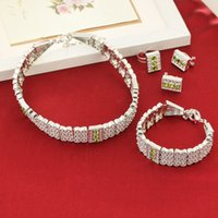 Bright Silver Ethiopian Jewelry Set Chokers Necklace Bracele...