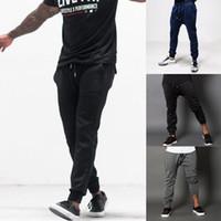 ALL'INGROSSO Pants Mens Tech jogging Skinny lunghi pantaloni della tuta pantaloni casuale allentata per Male Tuta ingegneri corpo Pant