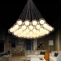 Moderne Glaskunst Kronleuchter LED-Pendelleuchte für Zimmerbar AC85-265V G4 Birne leben Glaspendelleuchte Leuchten hängen