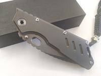 2017 جديد ميكي ستردير مخصص msc xl dragonspine الطي سكين S35VN بليد رمادي التيتانيوم مقبض التكتيكي بقاء أدوات edc مجانية
