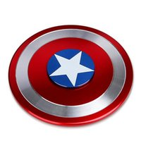 New Captain America Shield Hand Spinner Iron Man Fidget Alloy Puzzle Toys EDC Autisme ADHD Finger Gyro Toy Adult OTH443
