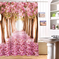 Beautiful Cherry Blossoms Shower Curtain Personalized Waterp...