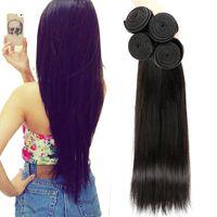 Cheveux humains vierges non transformés en tissus tressés noirs droits fournisseur Dhgate meilleures ventes articles malaisien indien péruvien cambodgien