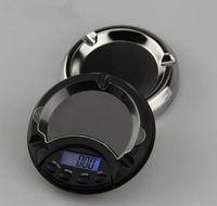 Mini LED Cenicero Diamante Polvo de oro Polvos Escala de precisión Balance de peso 0.1g 0.01g