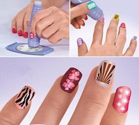 Büyük indirim Stokta Yeni SALON EXPRESS NAIL ART STAMPING KIT CREATE 100'S OF DESIGNS 50pcs