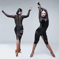 Sexy Latin Dance Kleid Erwachsener Perspektive auf dem Sasa Ballsaal Rumba Samba Quaste Kostümwettbewerb zu üben Latin Gruppe Kleidung nehmen
