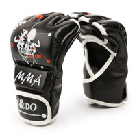 1Pair Man Women Half Finger Fight Boxing Gloves Mitts Sanda ...