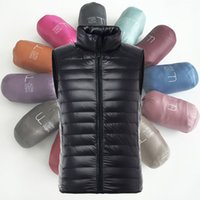 Fall- New Mens Winter Jackets Vest Duck Fluff White Duck Dow...