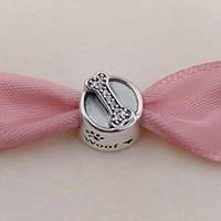 Authentic 925 Sterling Silver Beads Dog Bowl Charm Fits Euro...
