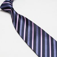 رجل تقليد الحرير ربطة العنق تقليد 100٪ الحرير الشريط التعادل العلاقات الجاكار عادي 50 قطعة / الوحدة