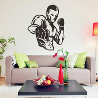 Boxing man sports wall stickers sitting room boy bedroom car...