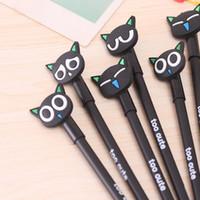 Großhandel-4pcs / lot Kawaii Stift Material Escolar Papelaria Cat Gelstift Niedlich Schreibwaren Büro Schulbedarf Caneta Gen Pens für das Schreiben