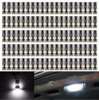 100X Canbus T10 8 Smd 12 v 1210 Led Hiçbir Obc Hata 194 168 W5w İç Işıklar Ampul