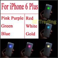 IPhone 6 için Artı Parlayan Logo Lüminesans LED Işık Up Şeffaf Logo Mod Panel Kiti Için iphone6 Artı 5.5 inç Ücretsiz nakliye