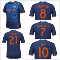 Maillot de New York City de première qualité 2017 2018 DAVID VILLA LAMPARD MIX à la maison Bleu bleu homme noir Maillot de New York City