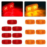 13pcs remolque marcador LED luz doble Bullseye ámbar / rojo 10LED luz de liquidación