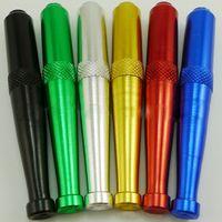 Metal Zeppelin Smoking Pipes Supporto per sigarette Tasca speciale per pipe manuale per colore tabacco Invia a caso