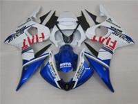 3 dom kits New Hot ABS motocicleta carenagem 100% Fit Para 2005 YAMAHA YZF R6 YZFR6 2005 YZFR6 YZFR6 2005 Azul Branco
