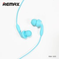 Remax RM -505 Stereo Wired Fancy Earbuds Avec Microphone Bluetooth Magnétique Earset In-Ear Dual Buds DHL Gratuit