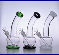 "9"" tall water bongs glass pipes 18mm drop down recycler..."