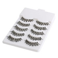 5 pares de maquillaje de belleza Mini media esquina negro pestañas postizas Natural Eye Lashes Cosmetics