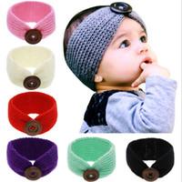 Bebê menina de lã de malha headbands inverno crianças cabelo recém-nascido cabeça envoltório turbante headband headwear cabelo infantil headwrap acessórios