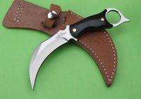 Birleşik UC120 Karambit Hibben Pençe Survival Düz Bıçak Micarta Kolu Taktik Kamp Avcılık Survival Cep Bıçak Xmas Hediye Koleksiyonu