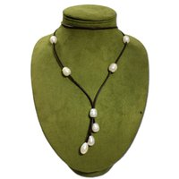 Collana di perle d'acqua dolce naturale collana europea e americana retrò moda dichiarazione lunga catena maglione collana donne clothin
