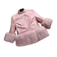 cute baby girl parkas coat solid faux fur overcoat for 1- 12y...