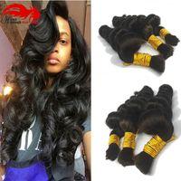 Producto Hannah Compre 3bundles 150 gramos de pelo brasileño a granel para trenzar el cabello humano brasileño sin trama Micro mini Trenzado a granel