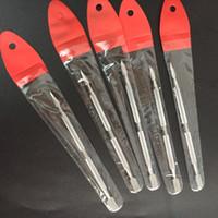 التغليف الفردي التيتانيوم أداة GR2 التيتانيوم Dabber الشمع البخاخة الفولاذ المقاوم للصدأ Dab أداة التيتانيوم مسمار Dabber أداة A / B / C / D / E