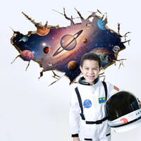 3D Wall stickers home decor space universe Planet for kids r...