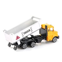 Aleación de los niños 1:64 Scale Concrete Mixer Truck / Tipper Truck / Excavadora Truck Emulation Modelo Toy Gift Car Models Concrete Mixer Engineering
