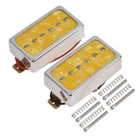 Humbucker Pickups Bridge und Neck Set für Les Paul E-Gitarre Yellow Pearl