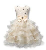 Vestidos de bautizo de vestir Ropa de bebé 3D Rose de la flor del cordón del vestido del banquete de boda de la mariposa con la niña del vestido de bautismo de la princesa