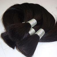 처리되지 않은 페루 스트레이트 헤어 100g 브라질 인간 번들 머리 벌크 1 번들 거래 불가 Wech 10-26 Inch Human Braiding Hair