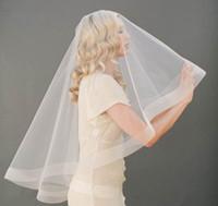 2017 pas cher libère l'expédition voile de la mariée 1,5 m blanc unique bord tulle bord bridals accessoires livraison gratuite