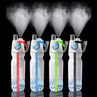 2017 plus récent mouvement créatif PE pour 500ml d'eau froide Portable tasse en plastique hydratant À l'été de la bouteille d'eau de pulvérisation MOQ: 60PCS