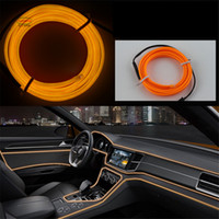 DIY Decoration 12V Auto Car Interior LED Neon Light EL Wire ...