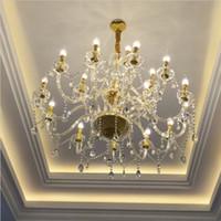 Avize merdiven aydınlatma için led pirinç zincir avize modern oturma odası için kristal avize yemek odası yatak odası için kolye ışık
